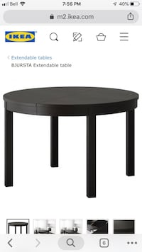 Ikea dunning room table expandable  552 km