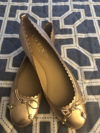 pair of brown leather open toe ankle strap heels Salem, 01970