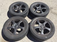 "17"" 5x110 5x114.3 rims and tires Mississauga, L5A 3L7"