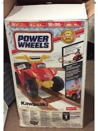 Fisher Price Power Wheels KAWASAKI Lil Quad with 17' of Track OPN BOX