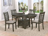 Hartwell Gray Extendable Oval Dining Set | 2195   1201 mi