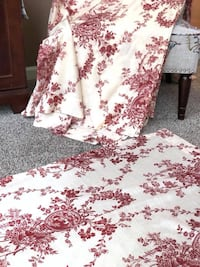 White and red floral print curtains  Bayville, 08721