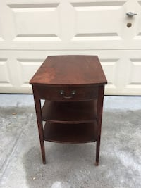 Wood accent side table antique