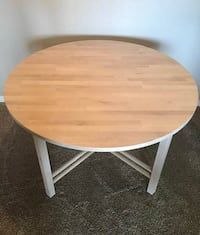Round Solid Birch Table (Unstained) - $150 (Overland Park, KS) KANSASCITY