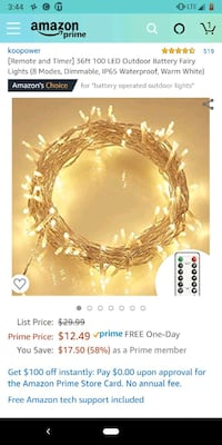 fairy string lights with batteries