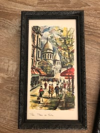 Three black framed Paris, France wall decors Falls Church, 22042