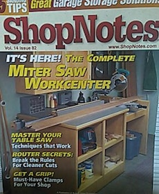 Shopnotes the complete miter saw work center magazine