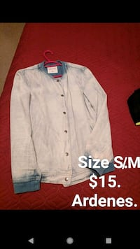 white and black button up jacket Bedford, B4A 1N1