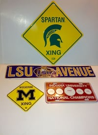 NCAA US College Tin Sign Wall Décor Set of 4  London
