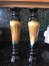 two brown-and-black ceramic vases Victorville, 92392