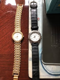 2 watches used good condition one need batt gold one