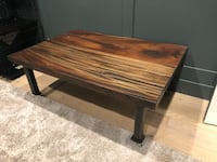 rectangular brown wooden coffee table Los Angeles, 91356