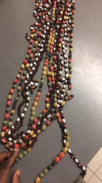 black, yellow, and red beaded necklace Toronto, M5V 0E4