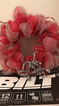 red and silver wreath