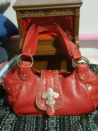 women's red leather shoulder bag Medford, 97501