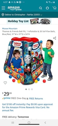 Thomas and friends ball pit new  Fairfax, 22033