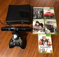 Xbox 360s console with controller, Kinect sensor TV mount + games Vaughan, L4H 2C8