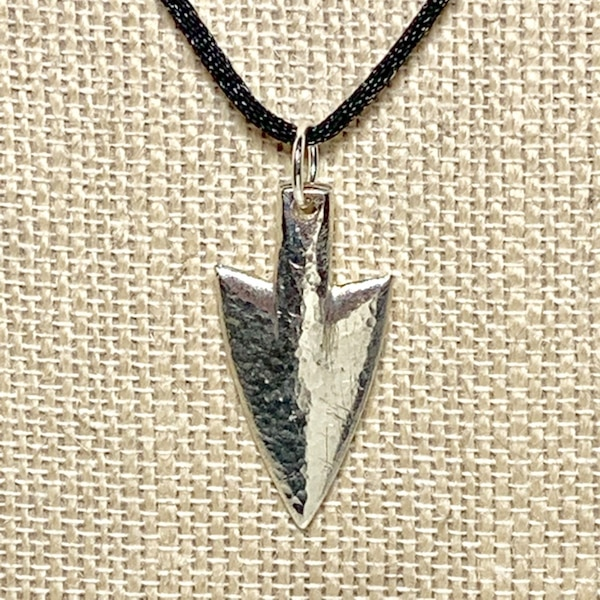 Genuine Hand Cast Sterling Silver Arrowhead Pendant 2