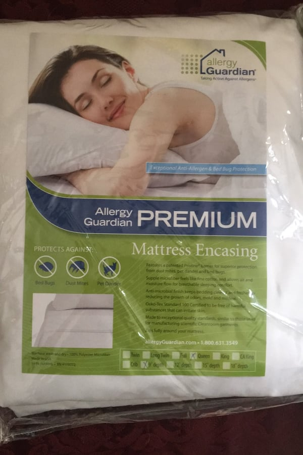 Queen Allergy Guardian mattress encasing, New in Package b9062002-78a7-450f-8ccd-f123b59eb1b0