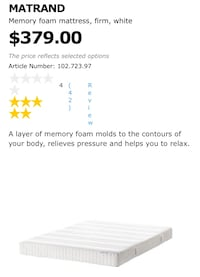 Mattress full size - IN MIAMI Plantation, 33325
