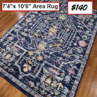 AJ- BRAND NEW- Pena Navy Area Rug Mississauga