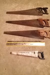 Five assorted manual saws Manheim Township, 17601