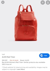 Aldo Red Tilzer backpack Vancouver, V6B 2E8