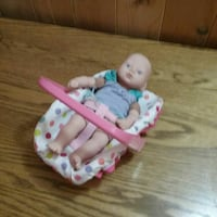 Mini baby doll with carrier London, N6K 1R7