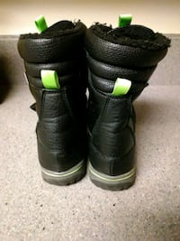 pair of black-and-green boots Alexandria