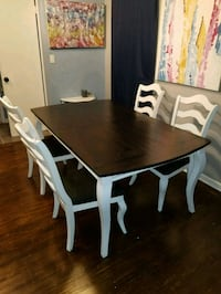 6x3 newly refinished farmhouse table. 5 chairs Westfield, 07090