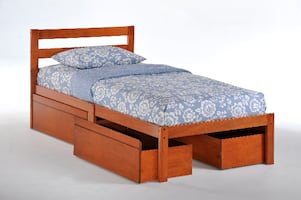 Twin Bed With Four Drawers
