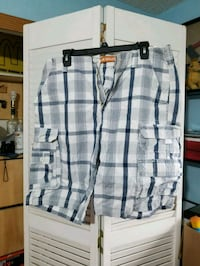 white and gray plaid shorts McAllen, 78504