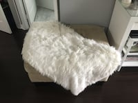 Home Trends White Faux Fur Rug Toronto, M6S