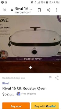 Read description black extra large roasting oven same one as this Addison