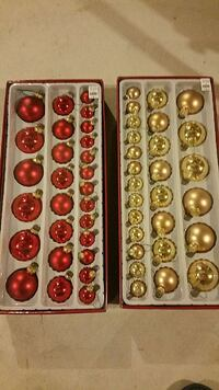 gold-and-red Christmas baubles East Gwillimbury