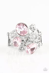 silver-colored and pink gemstone ring Miami, 33142