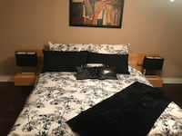 King bed room set price drop to sell ASAP all in the pic included even mattress and lamps  Stoney Creek, L8E 4Z1