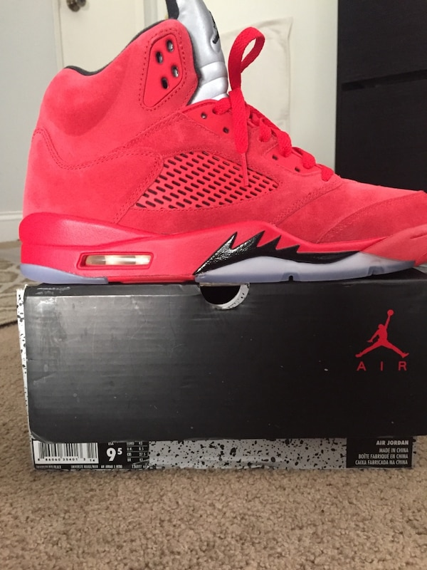 1bf63aa296c Used Air jordan red suede 5s for sale in Santa Clara - letgo