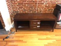Brown TV stand with storage