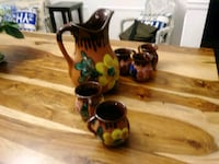 Hand painted Water jug and glasses Hamilton, L9C 5K8