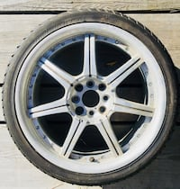 For summer rims for sale size 17 are two of the tires are burned two are good p205/40 r 17. need to go!