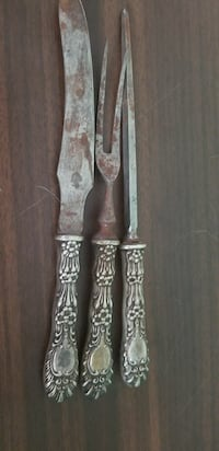 Sterling carving set. $25