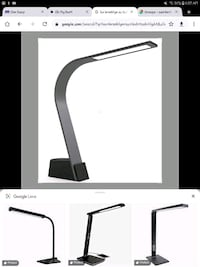 LUX LED LIGHTING Qi wireless enabled led desktop light.