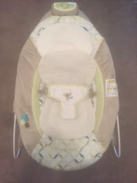 baby's white and green bouncer null