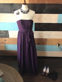 Purple formal dress with all accessories size 0
