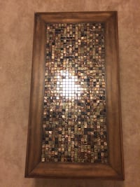 Dark brown coffee table with mosaic inlay New Berlin, 53151