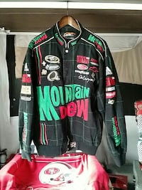 black, red, and green Mountain Dew racing jacket Hemet, 92545