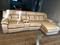 Beige leather home heather sectional sofa Centreville, 20120
