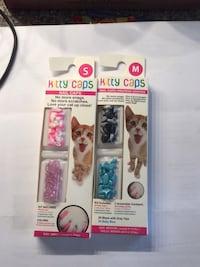 2 packages of nail covers for cats, one small, one medium Brampton, L6V 4K3