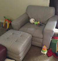 Haverty's Leather Chair and Ottoman $800 obo 771 mi